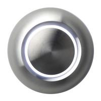 Botón timbre iluminado, aluminio, sobrepuesto