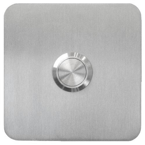 Botón timbre cuadrado, acero inoxidable, empotrado