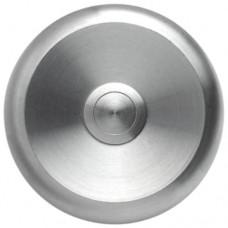 Botón timbre redondo, acero inoxidable masivo, sobrepuesto